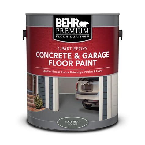 Garage Floor Paint Paint by 1 Part Epoxy Concrete Garage Floor Paint Behr Premium