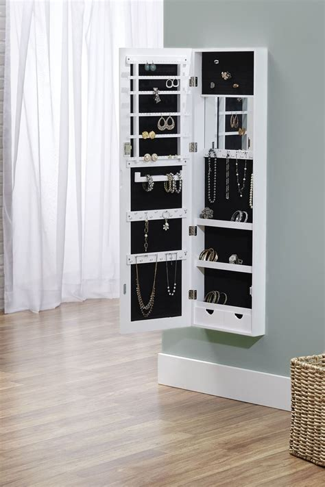 wall mounted jewelry cabinet wall mounted jewelry armoire building plans woodworking