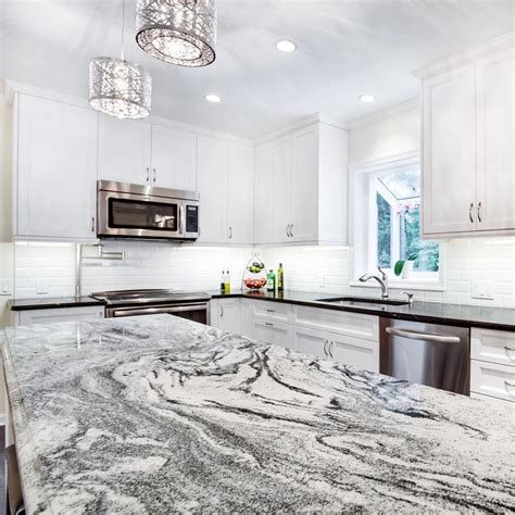 kitchen island with granite countertop viscon white granite kitchen ideas white