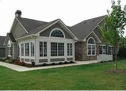 Luxury Modern American House Exterior Design Com U Shaped House Plans One Level House Plans Plus Home Designs