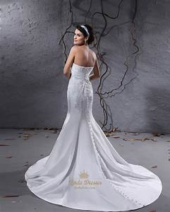 white strapless mermaid wedding dresses with buttons all With wedding dress buttons down back