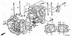 Honda Atv 2016 Oem Parts Diagram For Crankcase