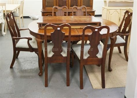 dining room table and hutch 8 piece cherry dining room set hutch table with 2 leaves