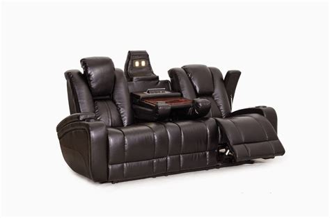 power reclining sofa with drop down table modern power reclining sofa with drop down table made of