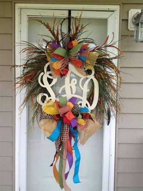 pin  anna cash  wreaths front door monogram wreath monogram wreath front door monogram