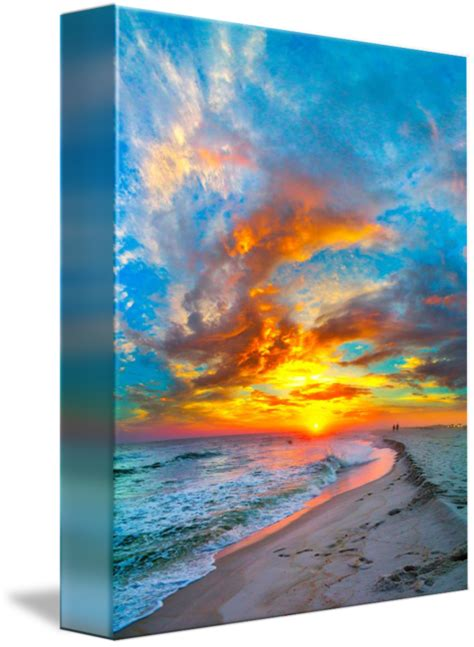 colorful ocean sunset red blue vertical panorama  eszra