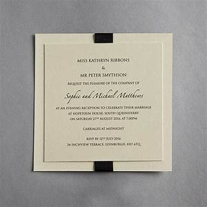 elegance wedding invitation by twenty seven With examples of wedding evening invitations