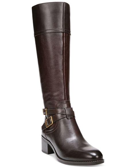 designer wide calf boots franco sarto brown lapis boots lyst
