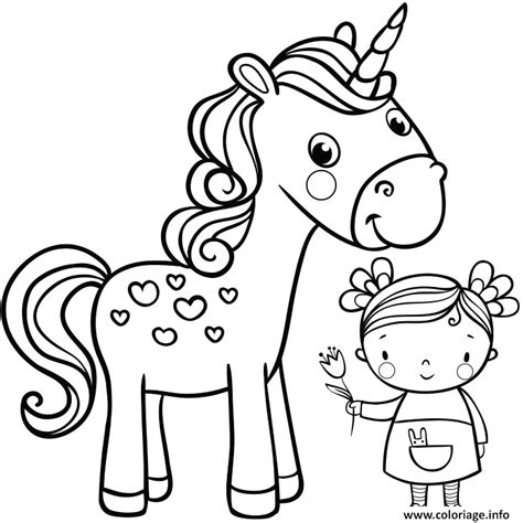 dessin de fille dessin de licorne facile