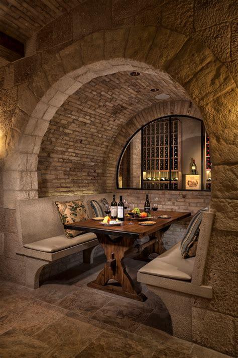 stone wine cellar interior designs