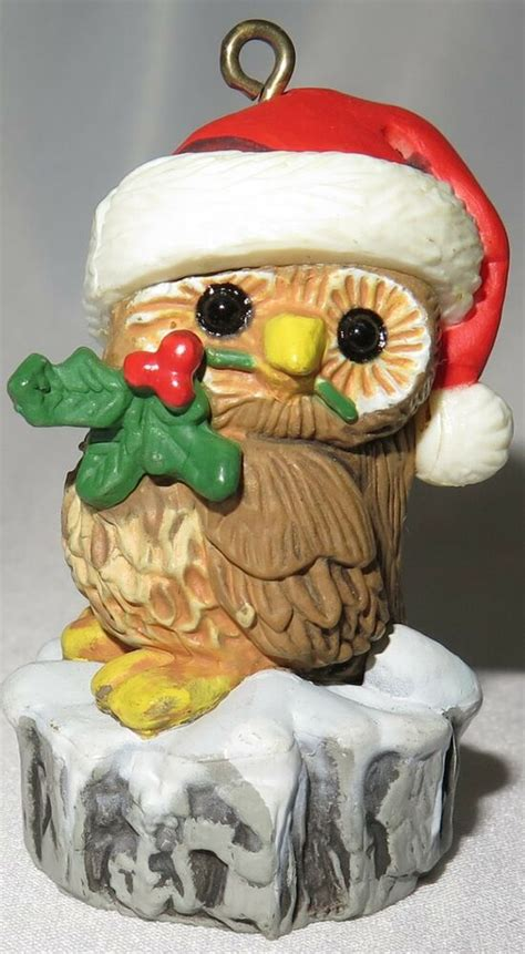 hallmark ornaments 1980 hallmark ornament santa owl trimmers 1980 no box ebay