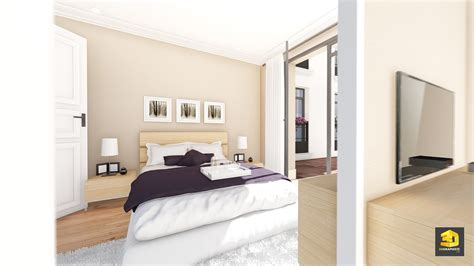 t2 chambre illustrations 3d immobilier appartement palazzo val d