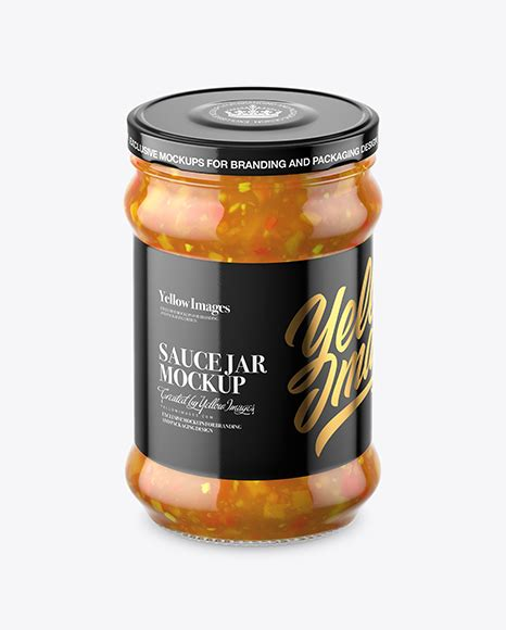 Bottle mockups make the process of presenting and packaging your designs in high quality photorealistic manner possible. Clear Glass Sweet & Sour Sauce Jar Mockup in Jar Mockups ...