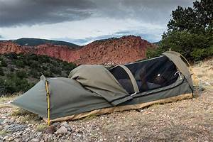 swag 1 person canvas tent with free 2 inch cing pad and