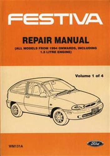ford festiva wb wd 1993 1996 on factory repair manual