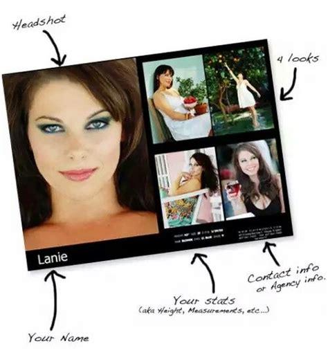 basic comp card layout side  headshot  side