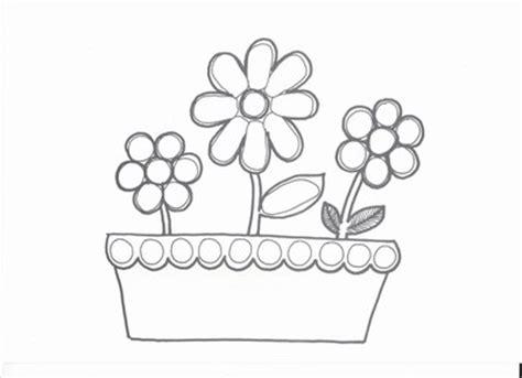 fleurs en pot dessin
