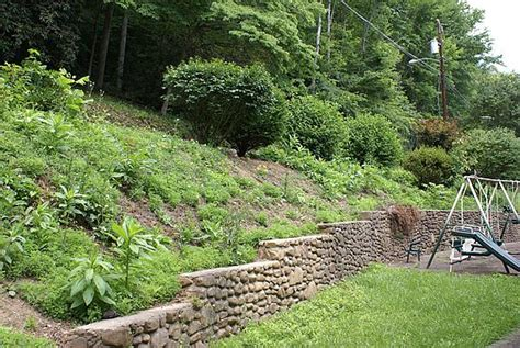 landscaping hillside hillside before photo from green thumb landscaping and tree services in baxter ky 40806