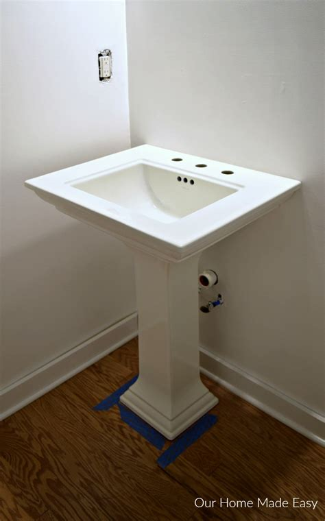 installing a pedestal bathroom sink 39 pedestal sink rough in plumbing rough in discover
