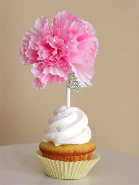 icing designs diy cupcake liner flower toppers