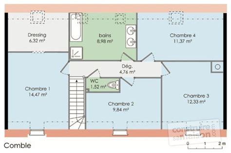 plan maison à étage 4 chambres maison francilienne 1 dé du plan de maison