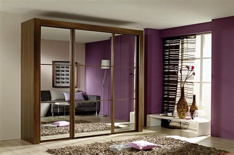 Wooden Mirror Wardrobe by Amazing Modern Small Bedroom With Brown Laminated Wooden