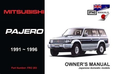how to download repair manuals 1991 mitsubishi pajero electronic toll collection mitsubishi pajero owners service manual 1991 1996