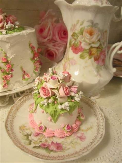 shabby chic cake designs pink white shabby roses faux cake from rhonda s rose cottage designs