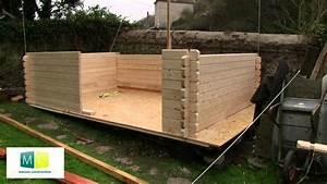 montage chalet de jardin en bois madriers youtube With decoration exterieur pour jardin 2 cabane jardin bois