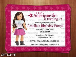 Design American Girl Doll American Girl Doll Birthday Party Invitations