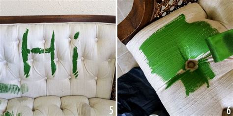 Adventures In Painting Upholstery  A Beautiful Mess