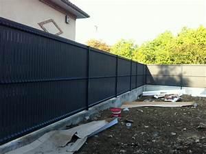 Cloture Pvc Sur Muret : cl ture panneaux rigides valenciennes installateur ~ Melissatoandfro.com Idées de Décoration