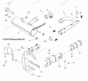 Polaris Side By Side 2014 Oem Parts Diagram For Engine