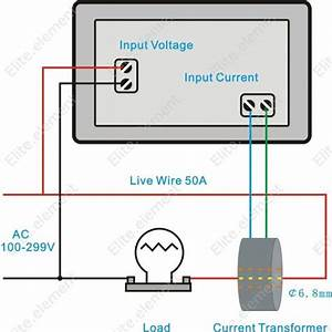 Ac 300v 50a Current Volt Combo Meter Need Power With Ct