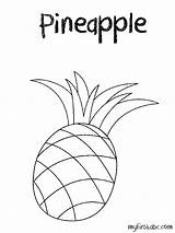 Pineapple Coloring Fruit Template Adults Popular Clip Watermelon Library Clipart Line sketch template