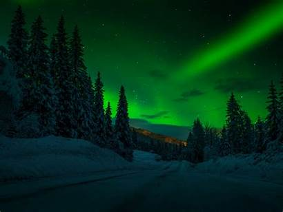 Night Winter Landscape Snow Desktop Sky Norway