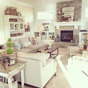 Country Farmhouse Paint Colors Small Cozy Living Room ...