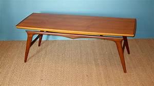 Table Basse Hauteur 60 Cm : table basse scandinave en teck 1960 coin canal ~ Nature-et-papiers.com Idées de Décoration