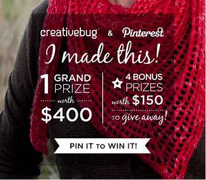 Creativebug + Pinterest: 'I Made This' Repin-to-Win Contest