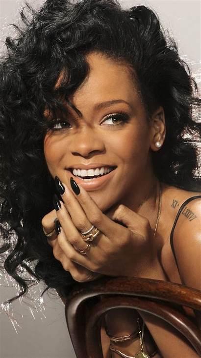 Rihanna Singer Famous Celebrity Smile Samsung S4