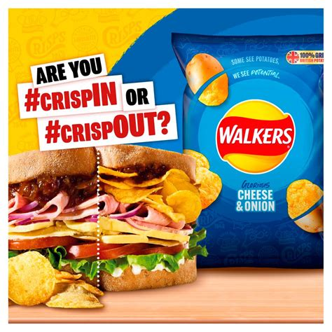 Walkers Cheese & Onion Multipack Crisps 6x25g   BB Foodservice