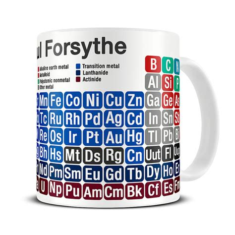 science gifts chemistry mug personalized by themughermit
