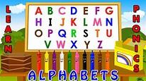 learning alphabets for kids - Phonetics for kids - YouTube