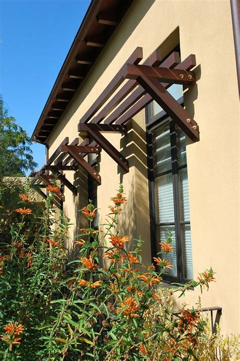 Wood Awnings For Homes by Add Decors To Your Exterior With 20 Awning Ideas Home