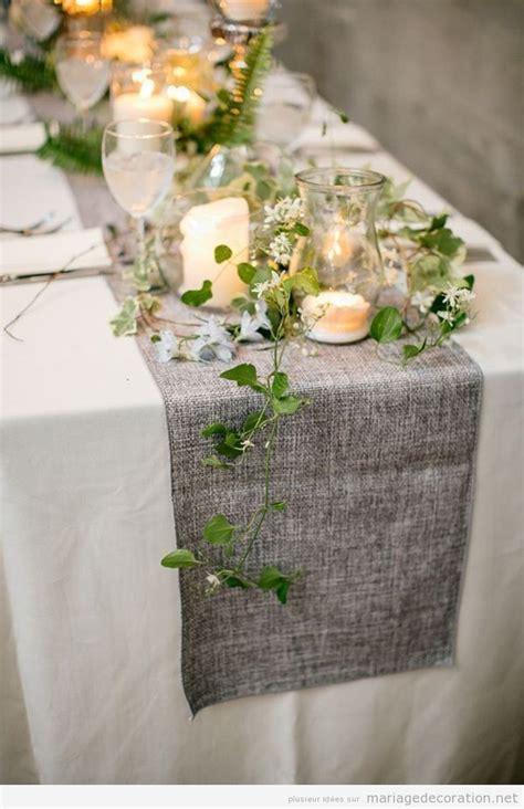 decorer table de mariage vintage avec  chemin de table