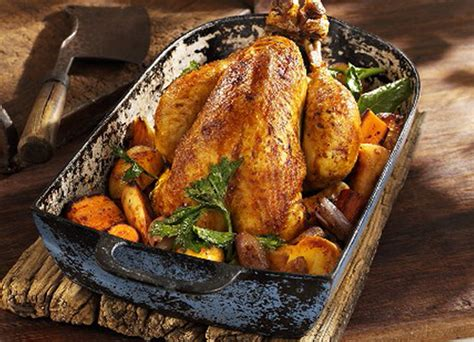 Maple Glazed Roast Chicken With Root Vegetables Mina