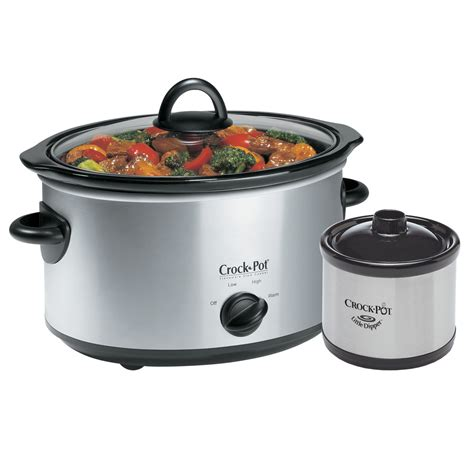 crock pot cooker crock pot 174 5qt oval manual slow cooker with little dipper 174 food warmer stainless scv503ss cn