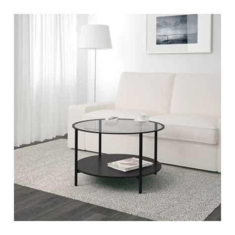 vittsjö coffee table black brown vittsjö coffee table black brown glass 75 cm ikea
