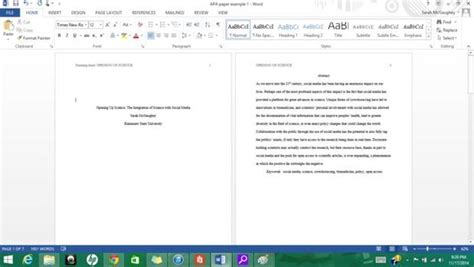 Apa Research Paper Template Word 2010 by Formatting Apa Style In Microsoft Word 2013 9 Steps