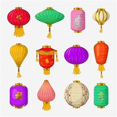 Lantern Chinese Clipart Lanterns Paper Decoration Psd